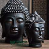 Tailandia estilo sudeste de la vieja resina Buda cabeza estatuas muebles para el hogar Resina...