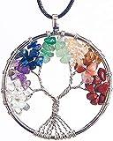 ORYCOOL Collar de árbol de la Vida con Colgante de Amatista Chakra Energy Stone Chakra Energy...