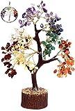 KACHVI Árbol de Cristal de Siete Chakras Árbol de los bonsais Figuras decoración de la...