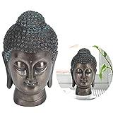 Liyeehao Cabeza de Buda meditando Estatua de Cabeza de Buda Figura de Resina Zen de Mesa para...