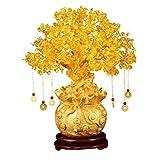 Veemoon Feng Shui Citrino Árbol de Dinero Árbol de Citrino de Cristal con Riqueza Monedas...