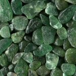Cristales de piedras verdes